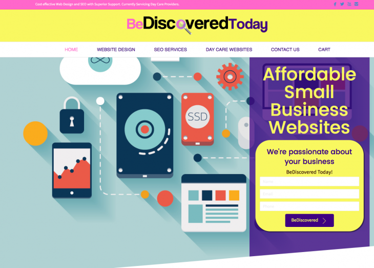 bediscoveredtoday-website-design