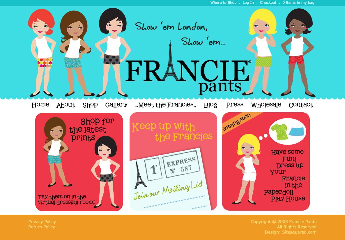 Francie Pants - Categorized website design inspiration and modern CSS ...