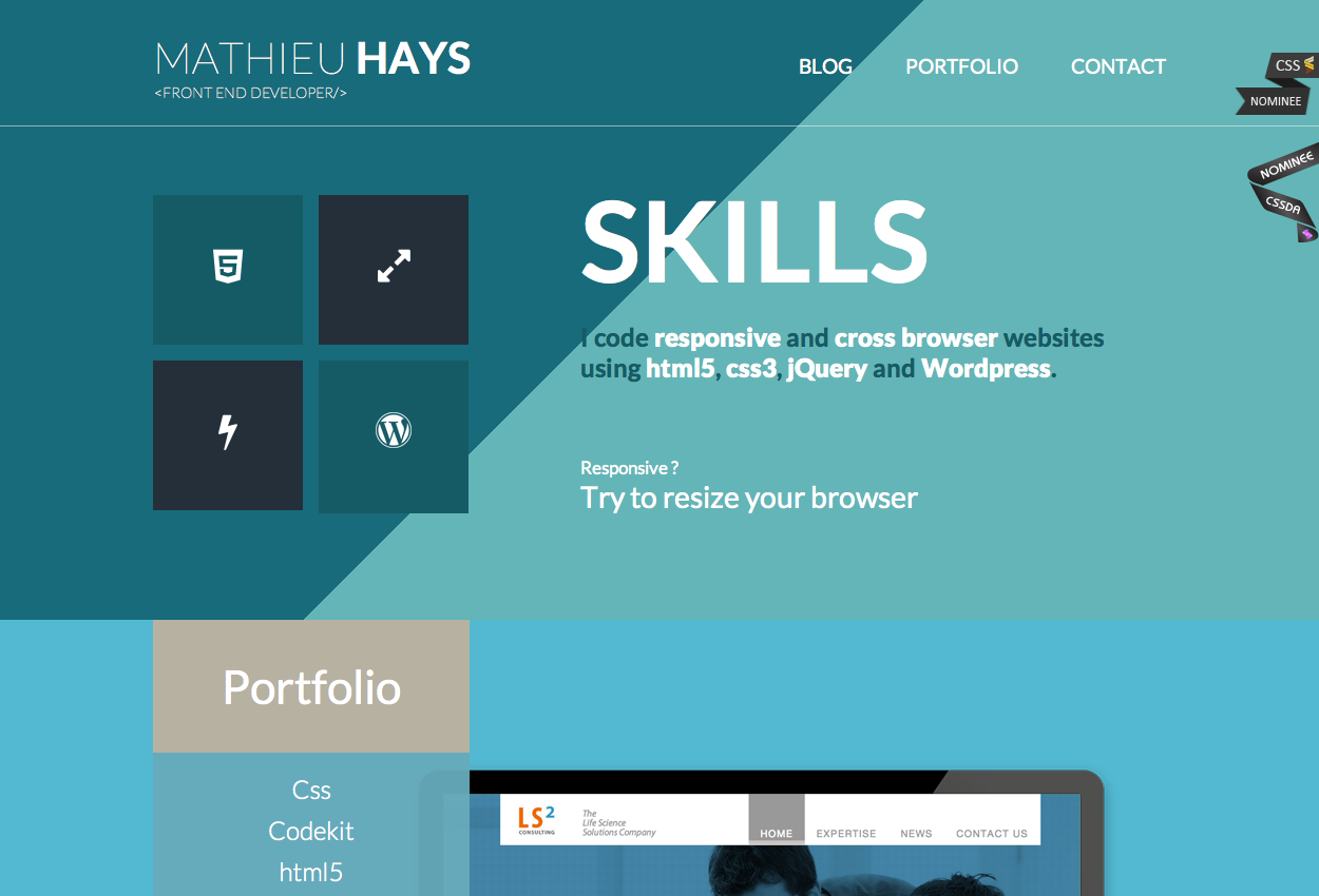 Web Designer And Developer Portfolio About Page