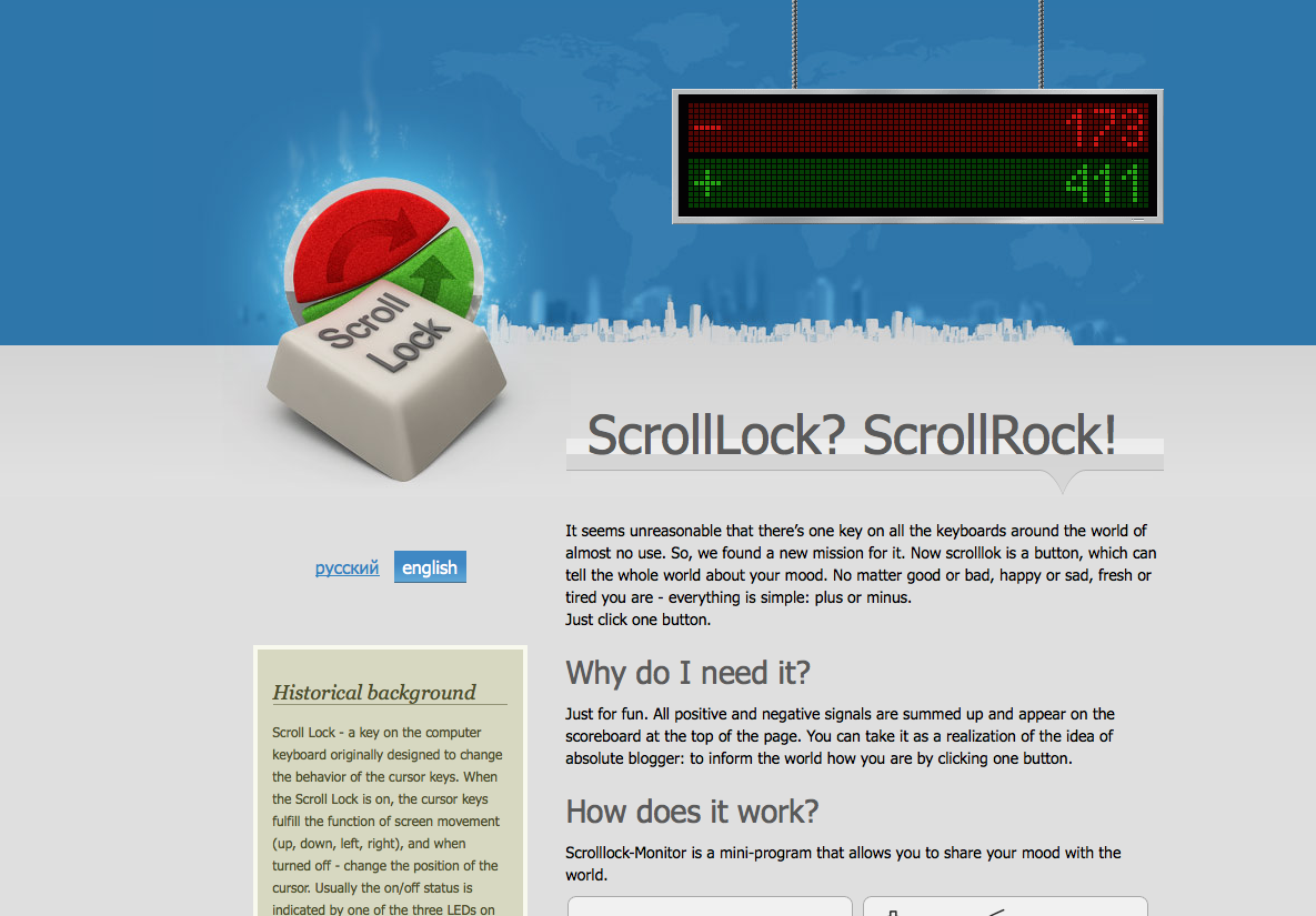 Scrolllock monitor