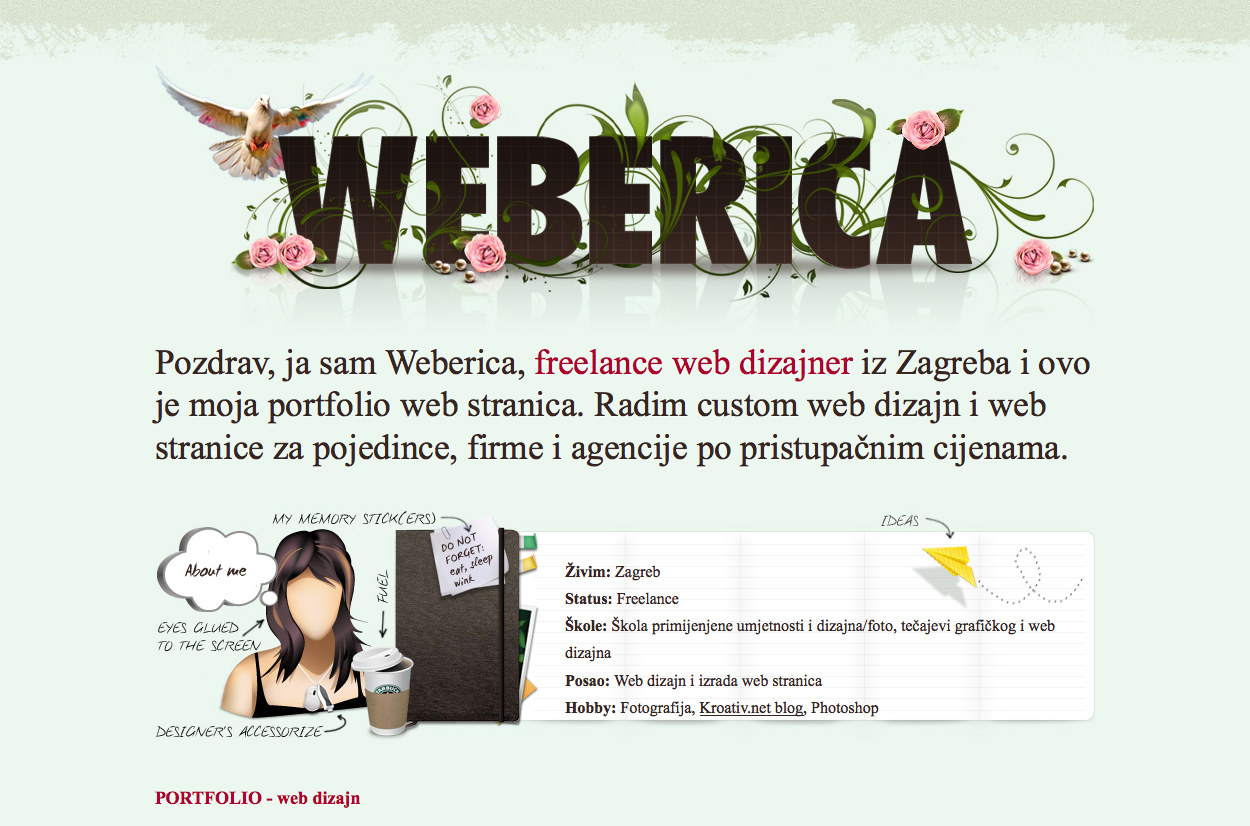 categorized website design inspiration and modern css website design