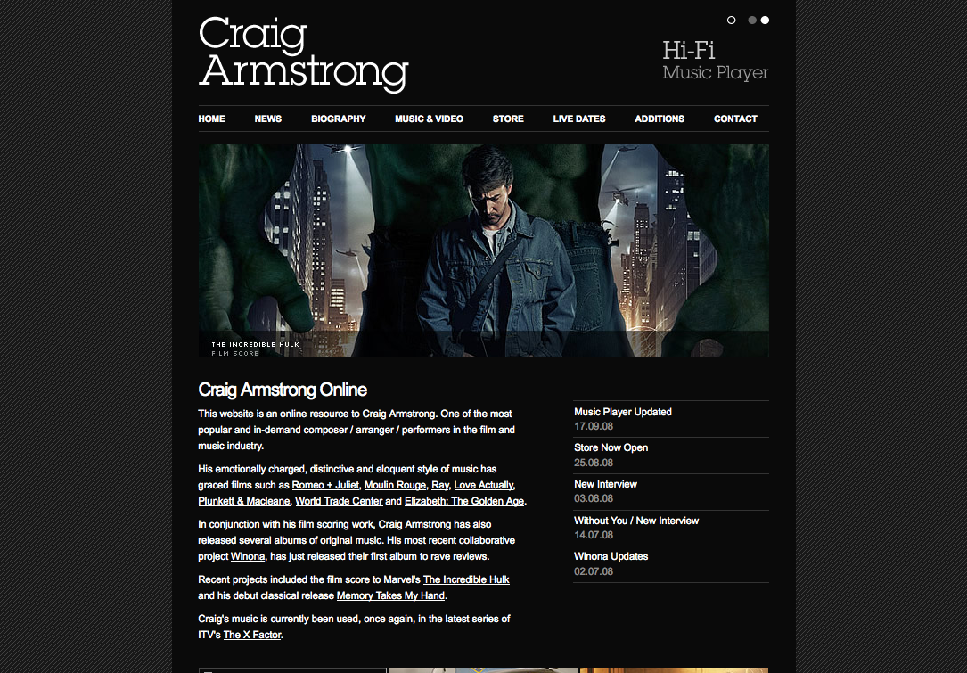 Craig Armstrong Online